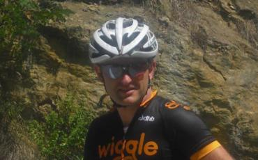 Richard Pearman in seinem Team Wiggle Outfit