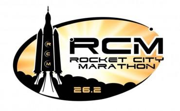 Imagen del logo de la maratón Rocket City