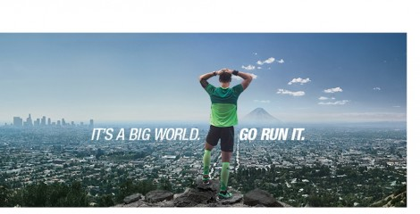 image of ASICS its a big world go run it campaign poster