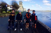 picture of Christina and friends with their road bikes