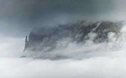 Atemberaubende Landschaft auf den Faeroer Inseln